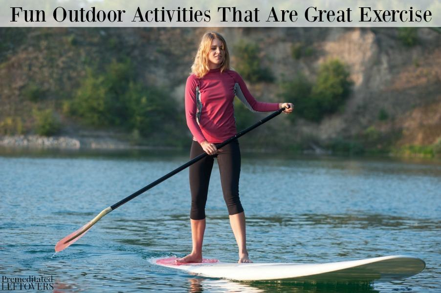 If you are getting bored of your normal workout routine, it may be time to mix it up with some fun outdoor activities that are great exercise!