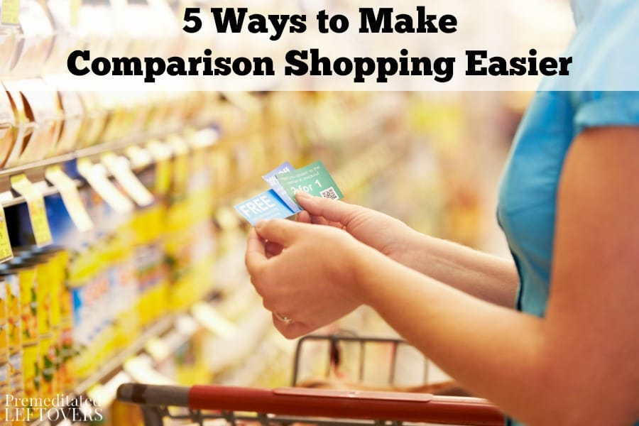 Comparison shopping doesn't have to take up a lot of time. These 5 ways to make comparison shopping easier to save you both time and money.