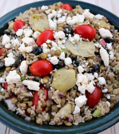 Greek Lentils and Rice Salad Recipe