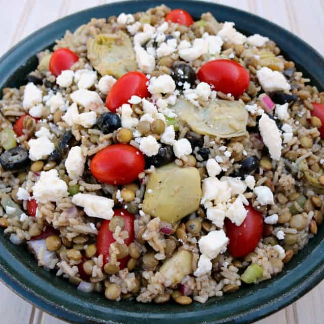 Greek Lentils and Rice Salad Recipe