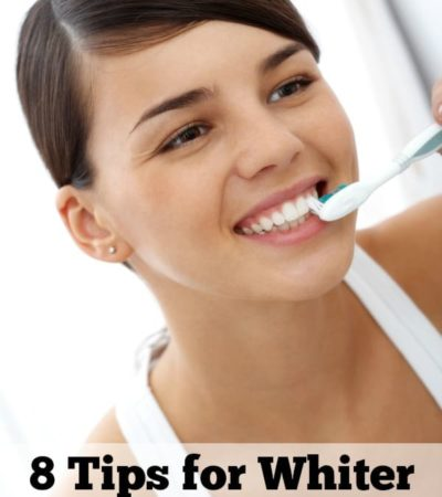 Do you want whiter teeth? Brighten your smile with these 8 tips for whiter looking teeth that are easy to do throughout the day.