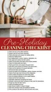 Pre-Holiday Cleaning Checklist for readying your home for guests