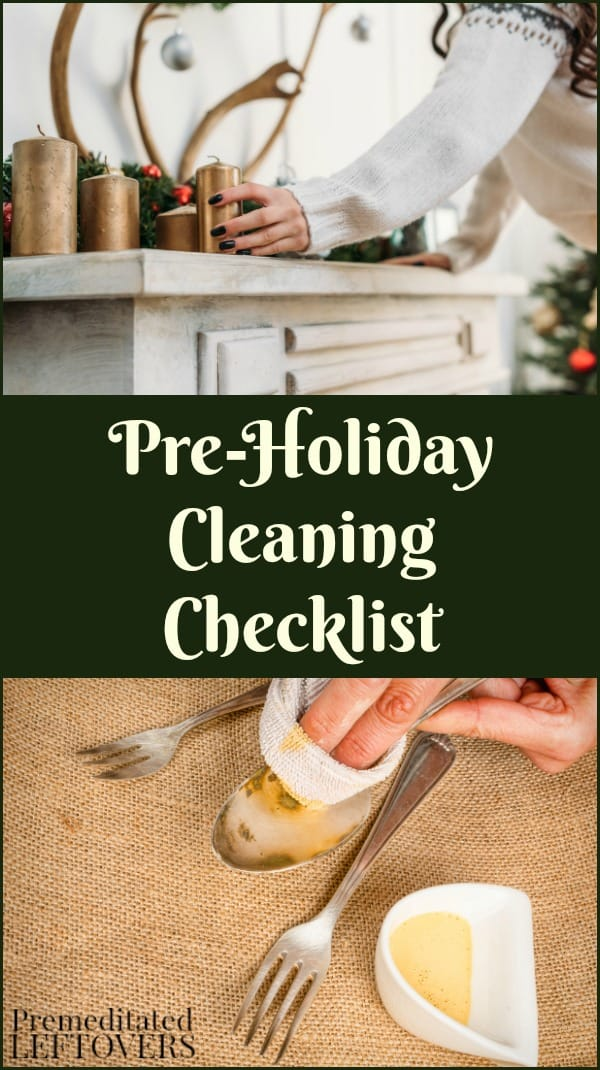 This Pre-Holiday Cleaning Checklist will help you get your home ready for holiday baking, decorating, and entertaining with a printable checklist.