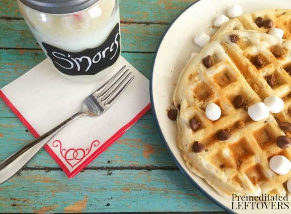 Quick and Easy S'mores Waffles Recipe