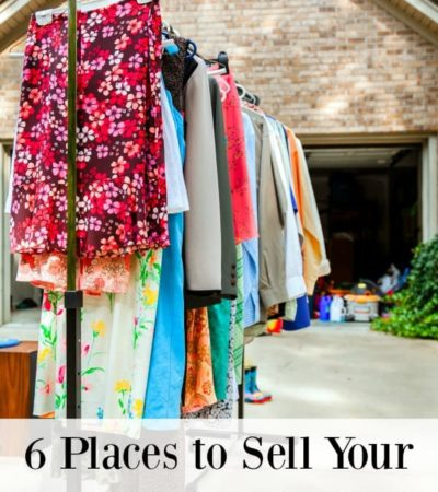 Need to clean out your closet? You don't have to let all that money you spent on clothes go to waste. Here are 6 places to sell your used clothes for cash.