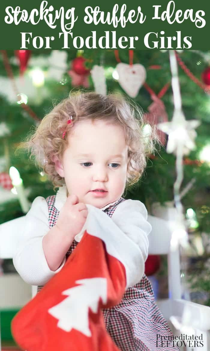 We have a great list of Stocking Stuffers for Toddler Girls that are safe, fit in a stocking and help develop fine motor skills.