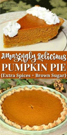 The best pumpkin pie recipe - extra spices and brown sugar make this an amazingly delicious pumpkin pie recipe