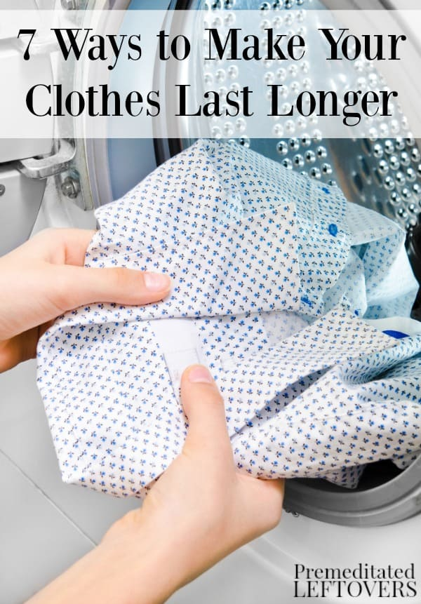 You can get more mileage out of your favorite clothes (and your clothing budget) with these 7ways to make your clothes last longer.
