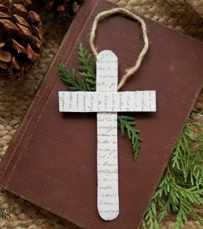 Cross Ornament Craft for Kids