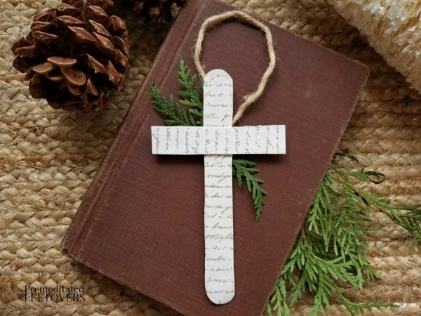 Easy Cross Christmas Tree Ornament Craft for Kids