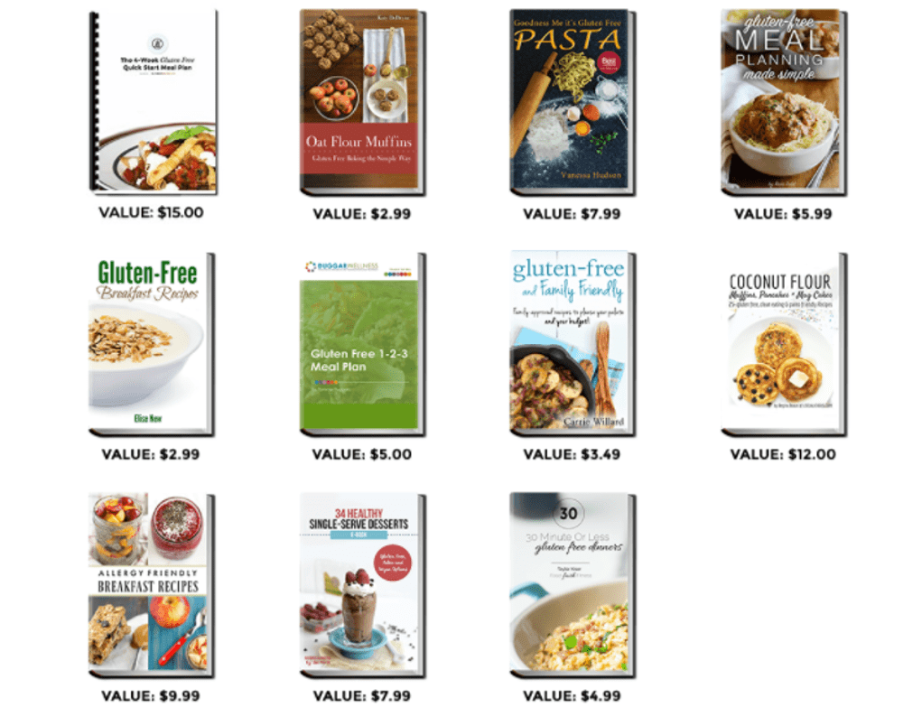 Gluten-free Digital Cookbooks and Meal Planning Resources