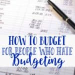 budget sheet to help you start budgeting