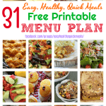 Healthy Dinner Meal Plan for December