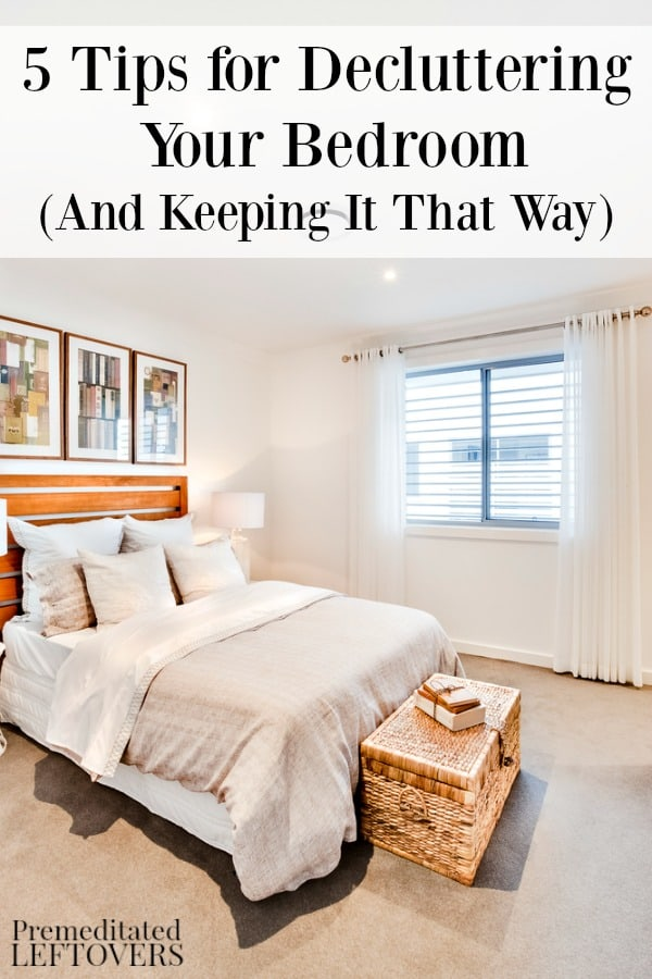 5 tips for decluttering your bedroom
