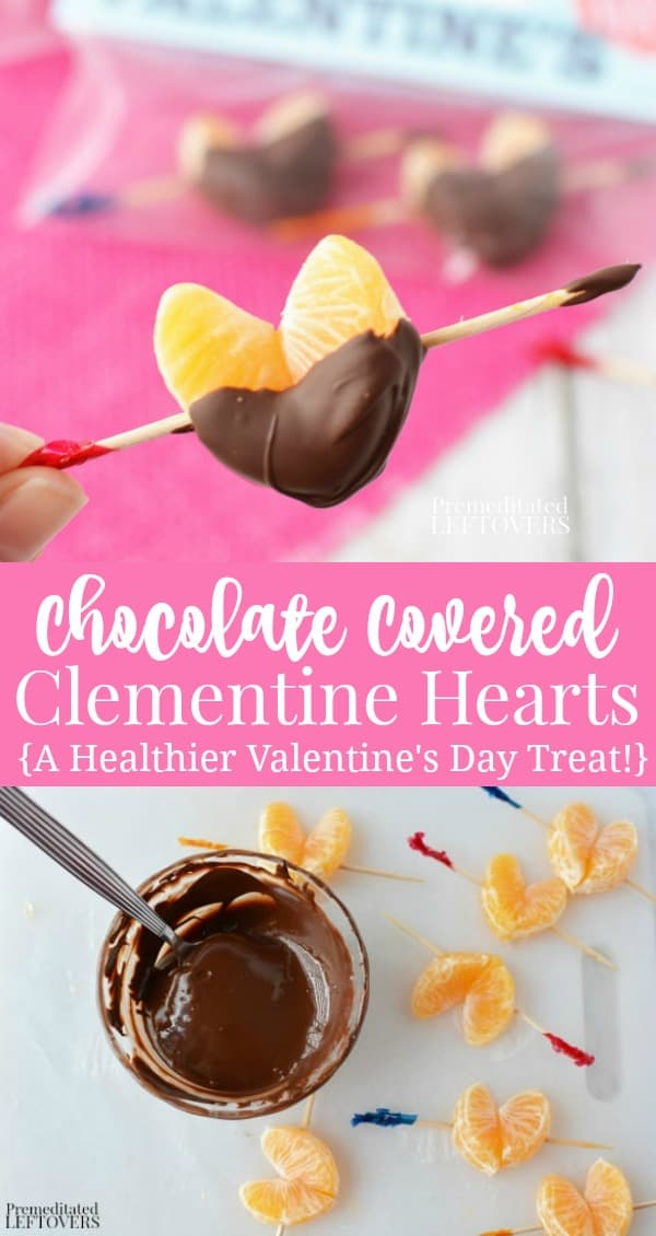 Chocolate Covered Clementine Hearts Recipe - A healthier Valentine's Day treat idea!