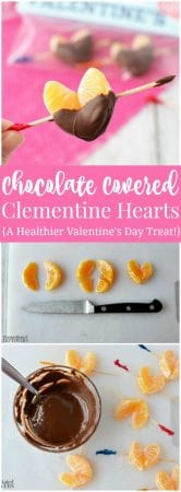 Chocolate Covered Mandarin Orange Hearts - a healthy Valentine's Day Treat
