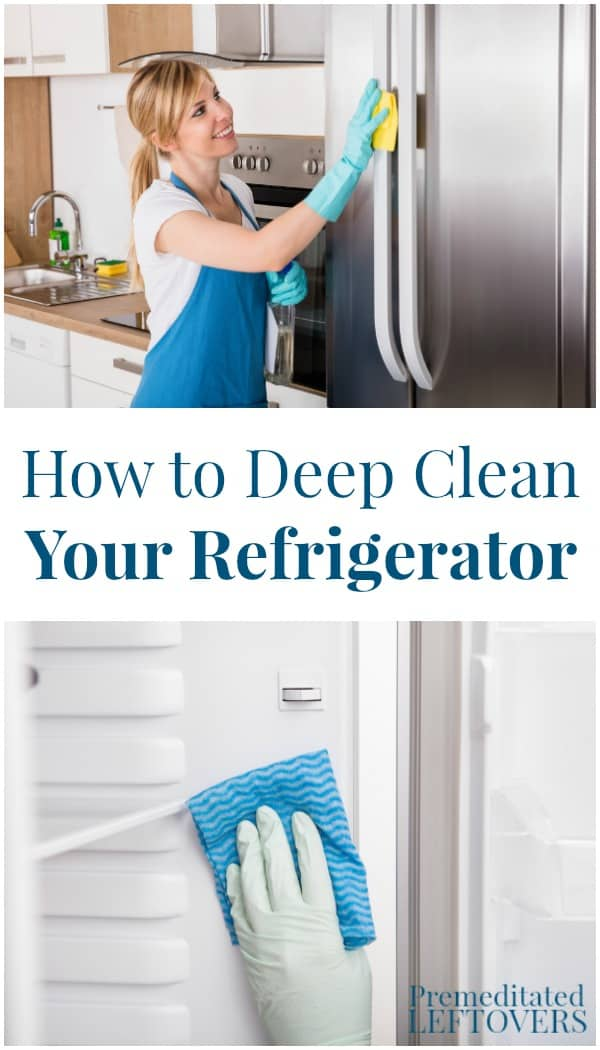 Deep cleaning a refrigerator does not have to take a long time. This step by step guide on how to deep clean your refrigerator makes it easier.