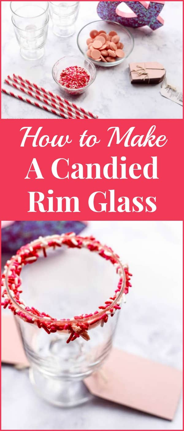 Candied rim glasses make a great addition to Valentine's Day parties and are quick and easy to make. Here's how to make a candied rim glass with just a few supplies.