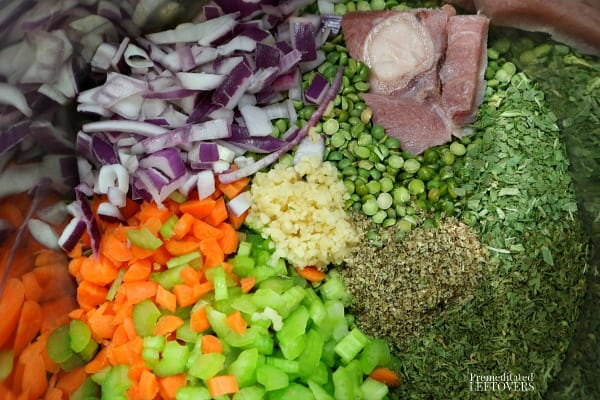 Instant Pot Split Pea Soup Ingredients