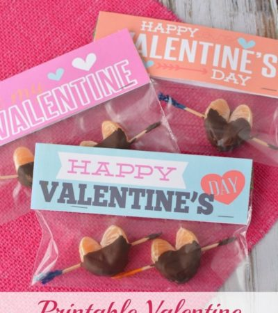 Printable Valentine Baggy Toppers
