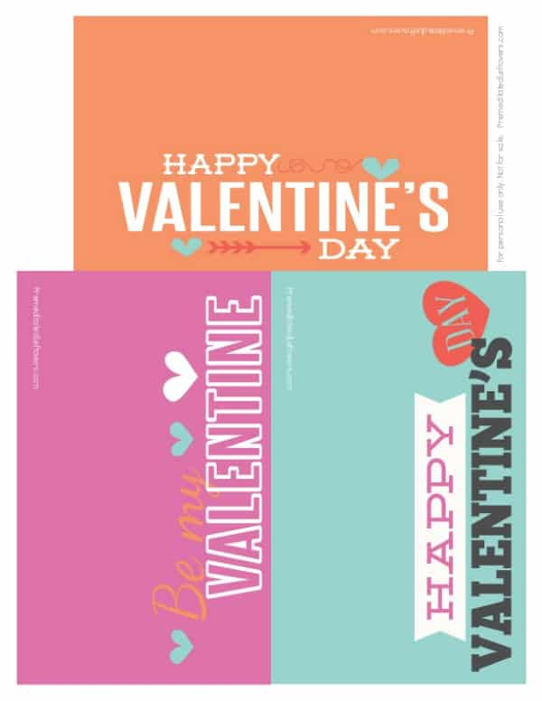 Printable Valentine Baggy Toppers PDF