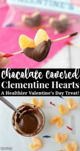 Chocolate covered orange hearts recipe for a healthier Valentine's Day treat!