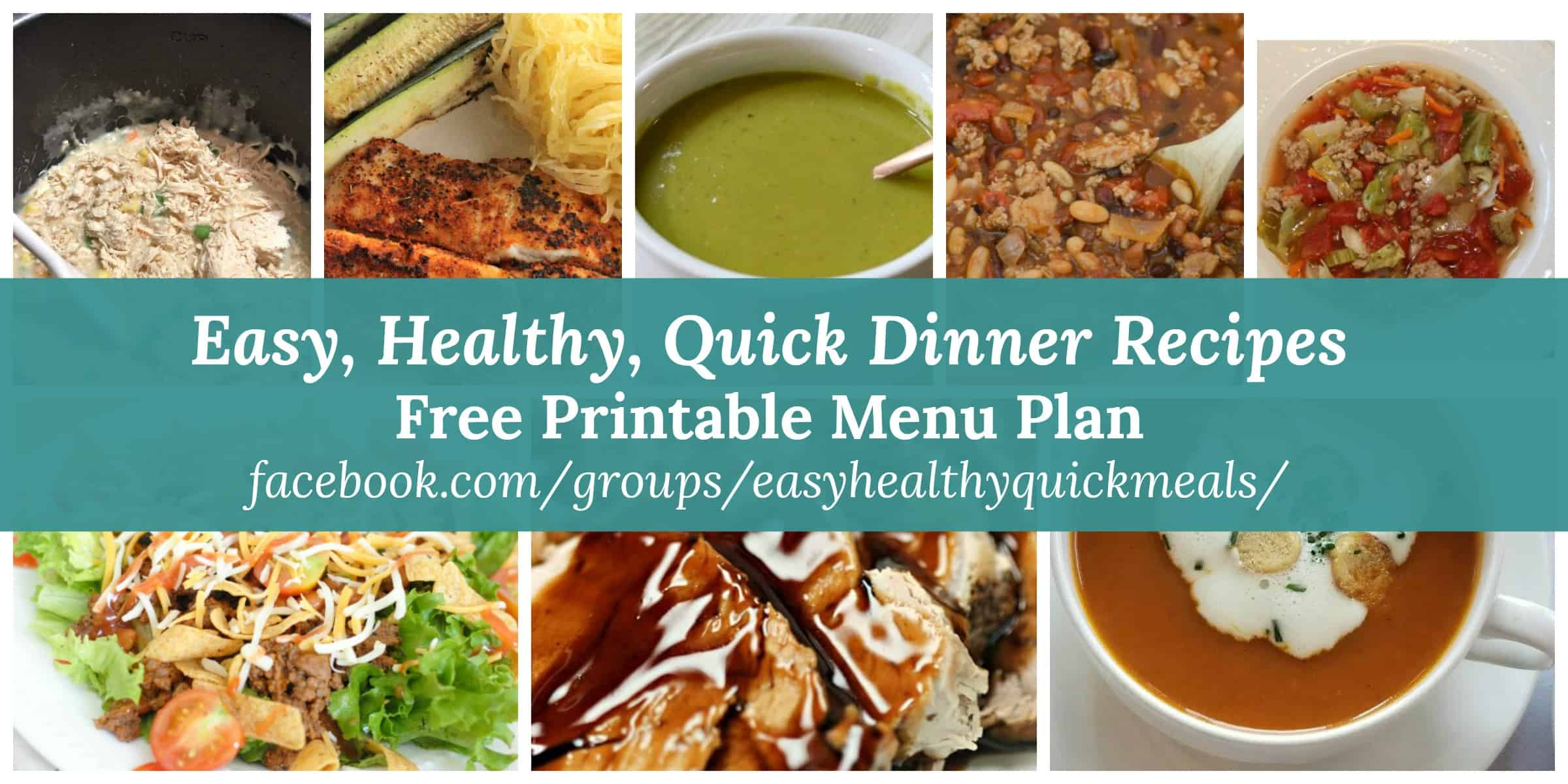 healthy Dinner Menu for February