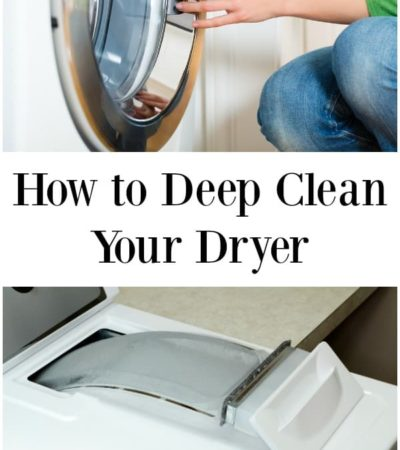 Person deep cleaning their dryer