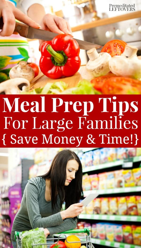 prepping vegetables and planning meals with shopping lists