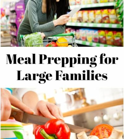 Grocery shopping and prepping vegetables