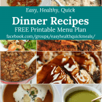 A sample of the delicious dinner recipes in the meal plan for February