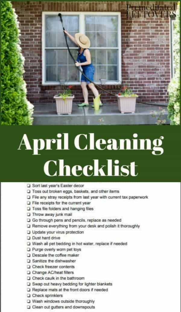 April House Cleaning Checklist