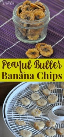 How to make Peanut butter banana chips - recipe for using a dehydrator