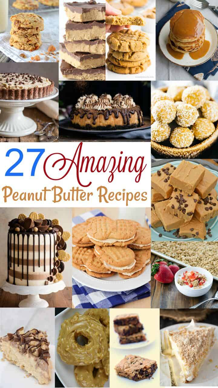 A collection of recipes using peanut butter for Peanut Butter Lovers Day