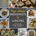 Prep-Ahead Breakfasts and Lunches Cookbook by Alea Milham - Easy Meal Prep Recipes for busy families