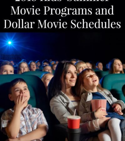 2018 Kids Summer Movie Programs
