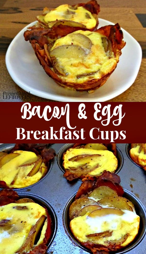 Bacon and Egg Breakfast Cups Recipe made in a muffin pan