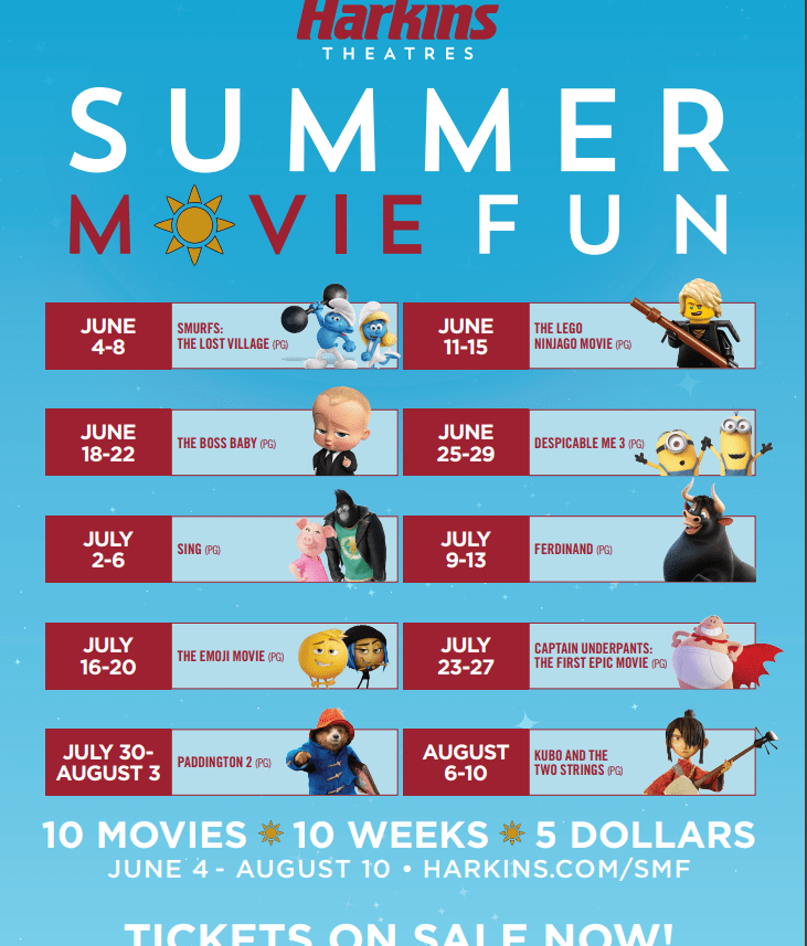 Harkins Summer Movies for Kids