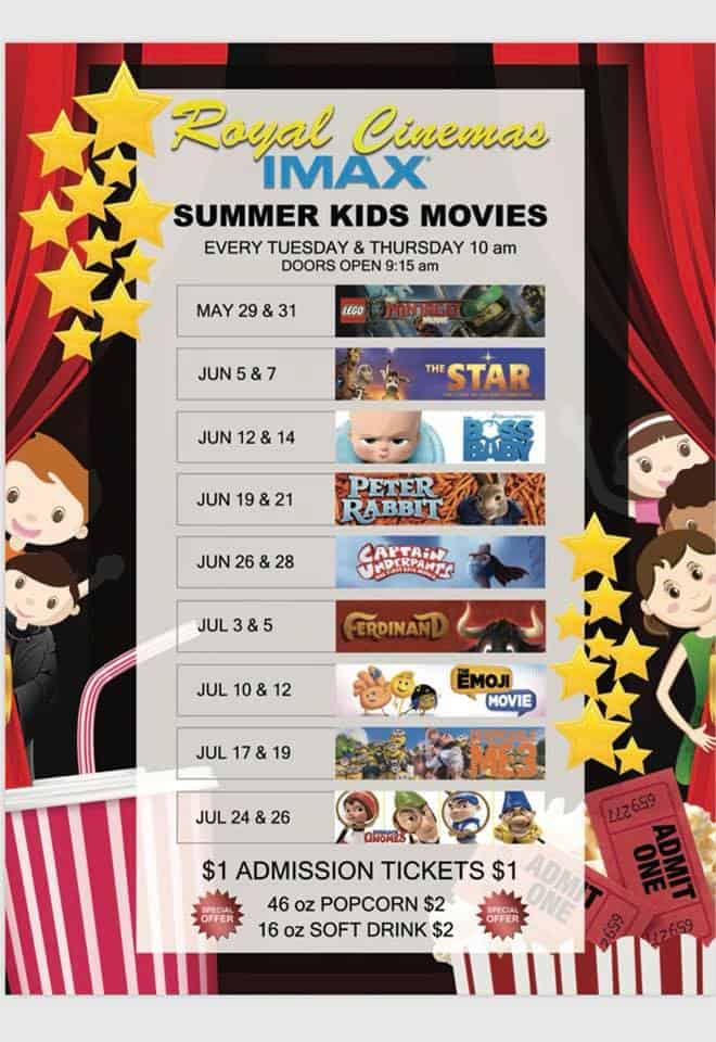Royal Cinemas & IMAX Summer Kids Movies
