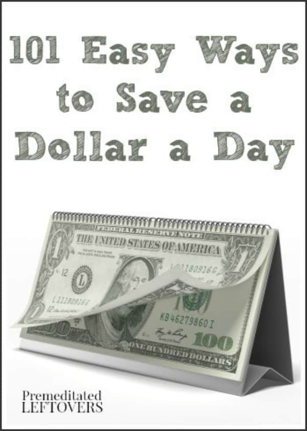 101 Easy Ways to Save a Dollar a Day - simple steps you can take each day to cut back on your spending.
