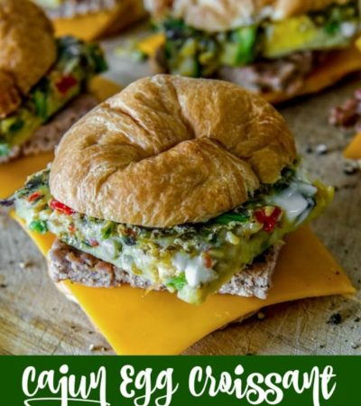 Cajun Egg Croissant Breakfast Sandwiches Recipe from the cookbook Prep-Ahead Breakfasts and Lunches