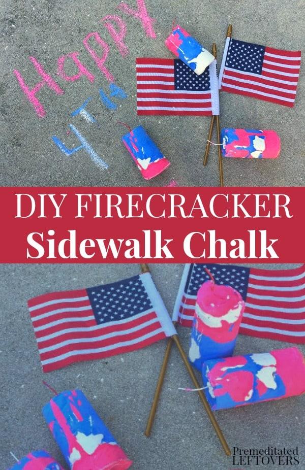 DIY Firecracker Sidewalk Chalk recipe and tutorial.