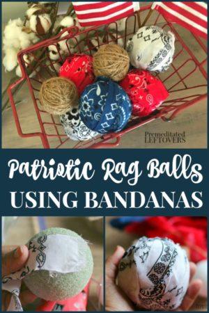 DIY Rag Balls using bandanas