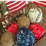 Patriotic Rag Balls