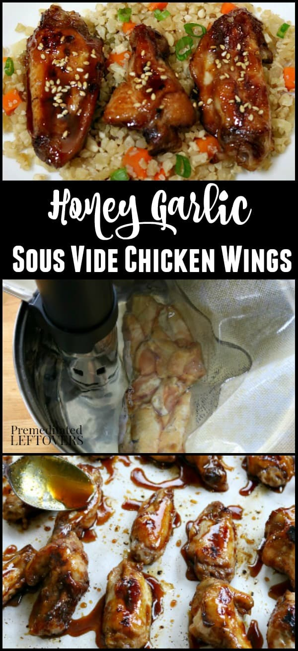 Sous Vide Chicken Wings Recipe with Honey Garlic Sauce