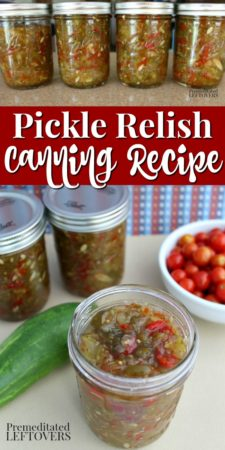 how to make sweet pickle relish and can it