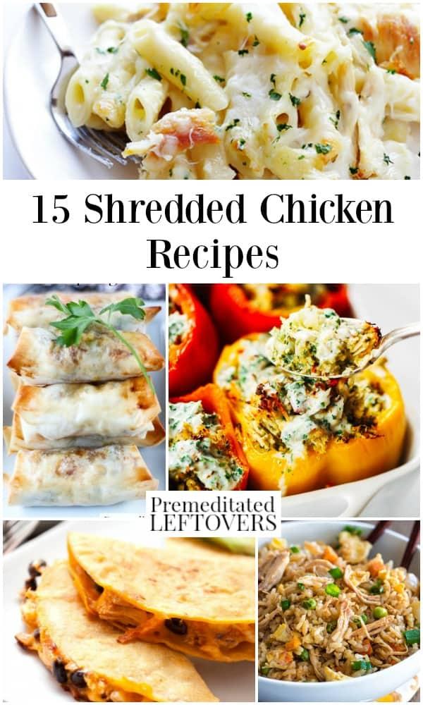 15 shredded chicken recipes