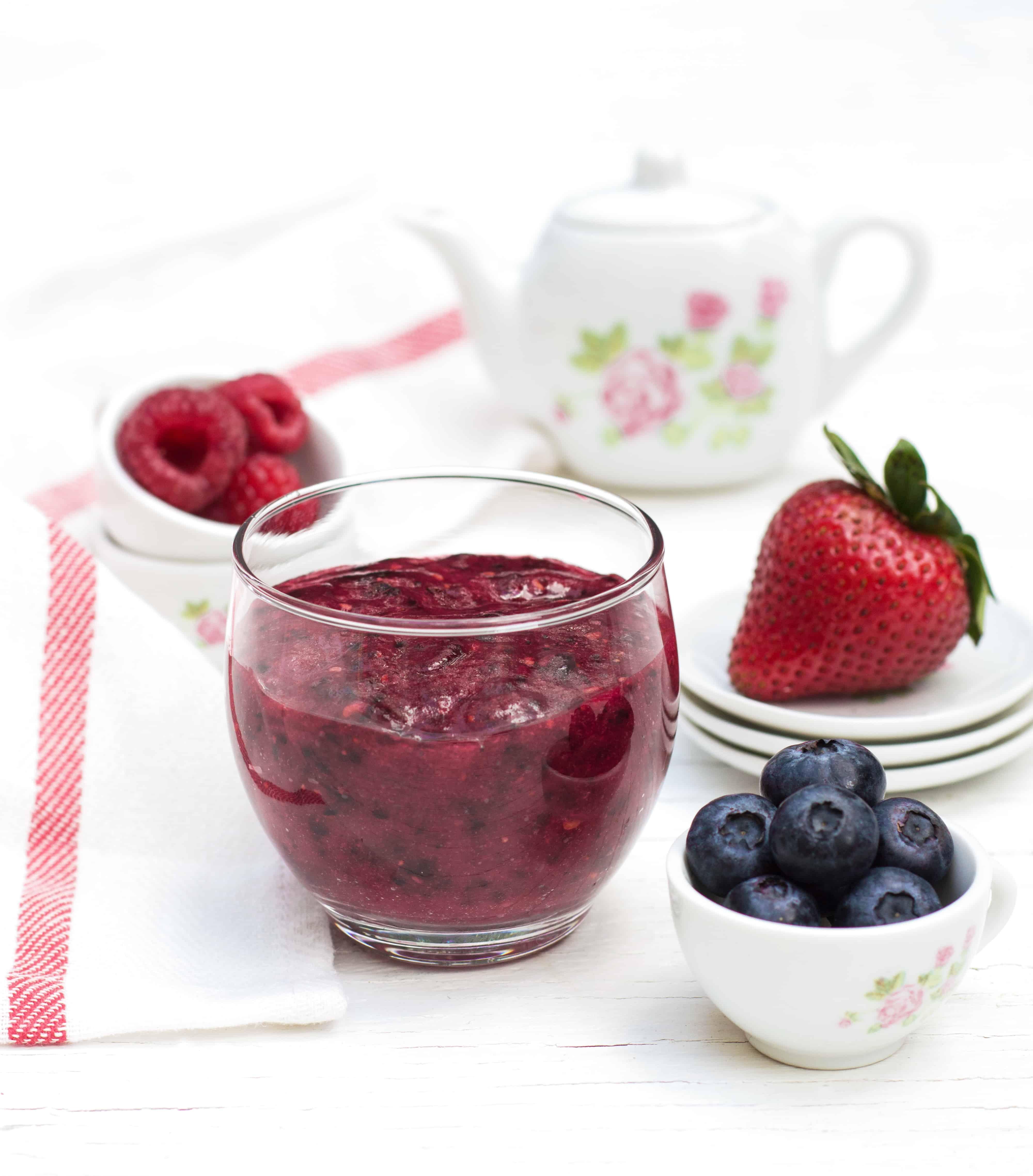 Very Berry Puree - Mixed berry baby food puree recipe