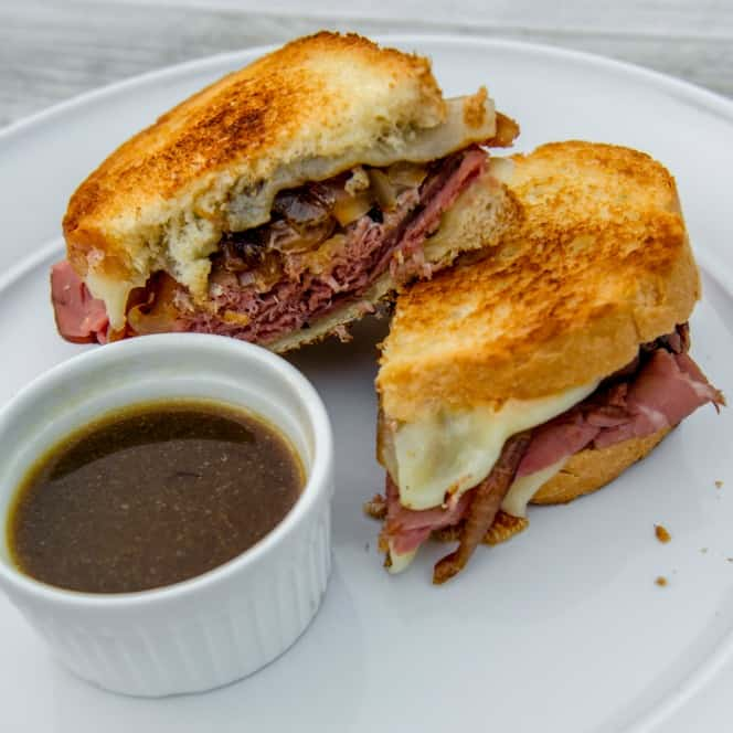 French Dip Grilled Cheese Sandwich Recipe from Prep-Ahead Breakfasts and Lunches