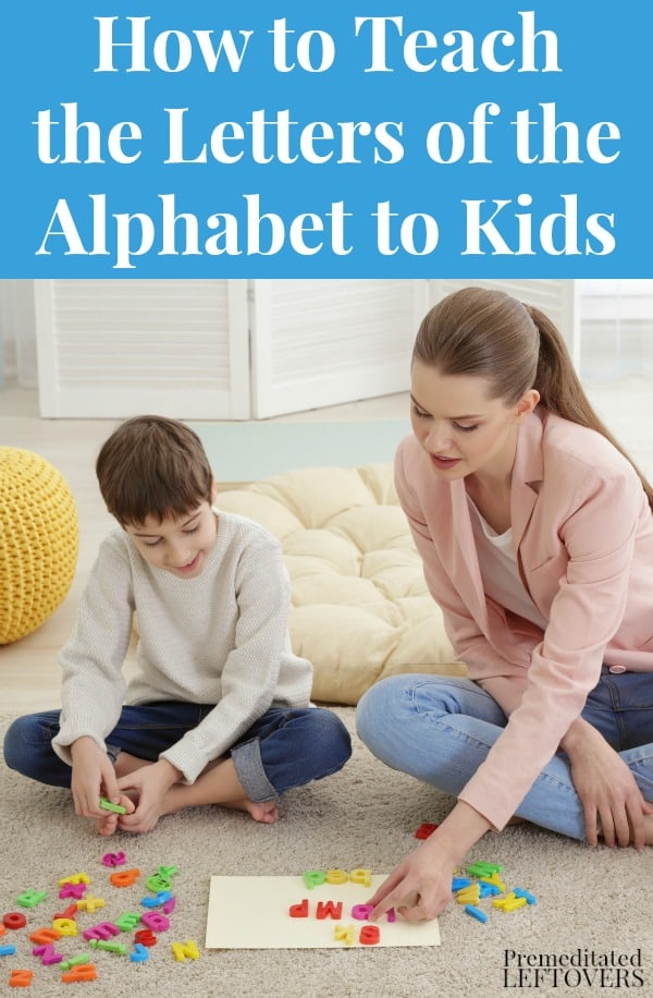How to teach the letters of the alphabet to kids.